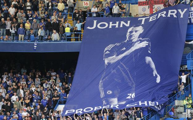 Takýto transparent pripravili pre Johna Terryho fanúšikovia FC Chelsea.