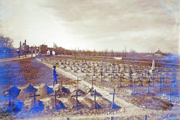 Jediná zachovaná fotografia cintorína na Nitrianskej.