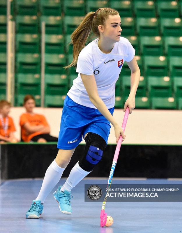Alexandra Kocúrová v reprezentačnom drese.