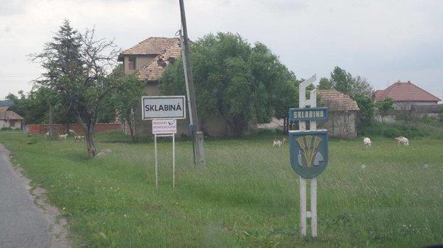 Obec Sklabiná.
