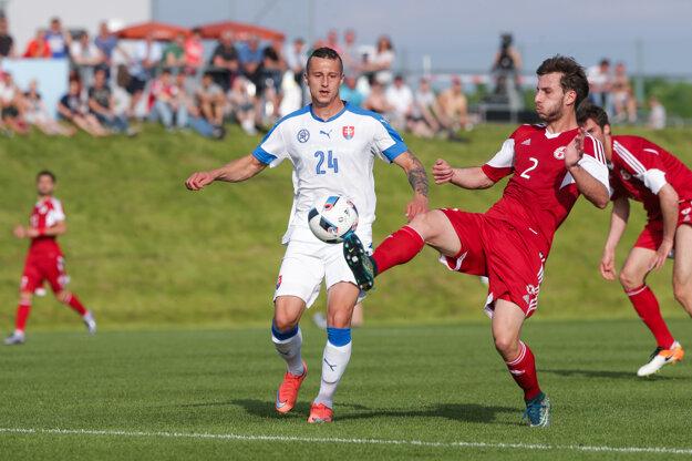 Adam Zreľák (s číslom 24) bojuje o nomináciu na EURO 2016.