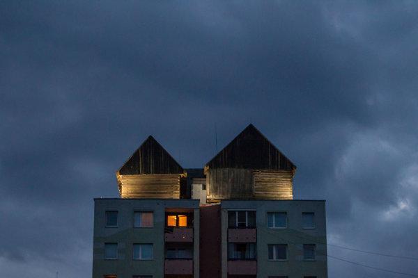 Pamätník ľudovej architektúry, známy ako drevenice.