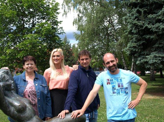 Zľava: V.Legerská,A.Dudráková,R.Kopka,R.Brezniak