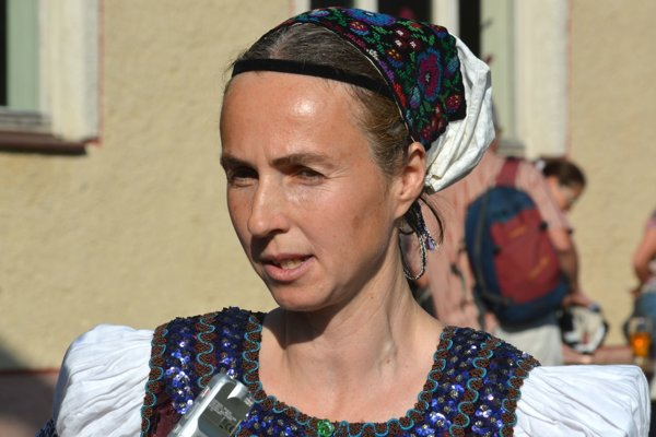 Organizátorka Zaježovskej slávnosti Hana Kašiaková.