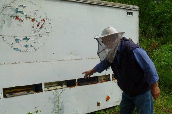 Včelár z Horše je nešťastný - včely z kočovných vozov mu pozabíjali včely a z úľov ukradli všetok med.