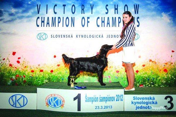 Angelika Bobríková stála na stupňoch víťazov v Junior handlingu.