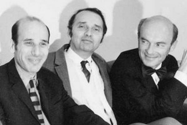 Peter Kolman (vľavo), Ilja Zeljenka a Roman Berger.