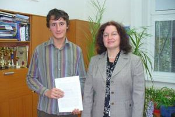 Radovana Potočára sprevádzala v Štrasburgu riaditeľka gymnázia Erika Sulinová.