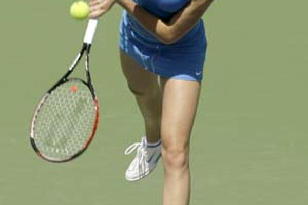 Daniela Hantuchová na dvorci v Indian Wells. Obhajuje tam turnajový titul.