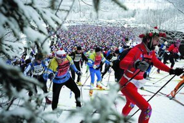 Vasov beh aj tento rok prilákal viac ako 15tisíc bežcov na lyžiach.