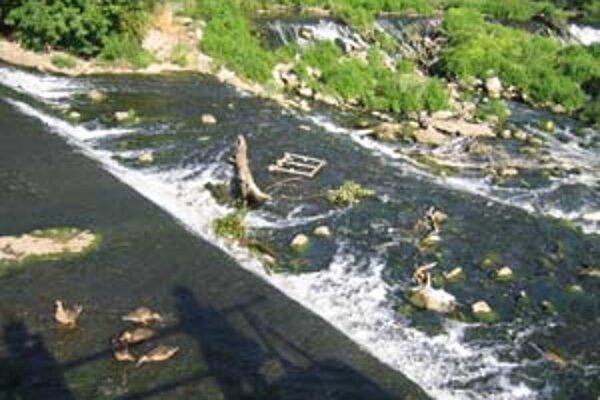 Vodné kaskády by v Nových Zámkoch málokto hľadal.