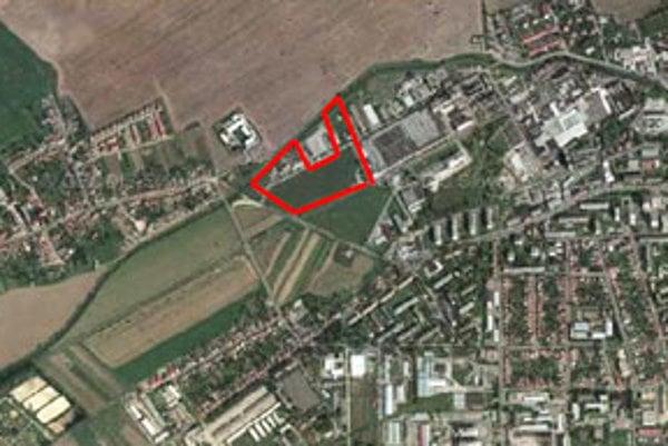 Umiestnenie plánovaného obchodného centra.