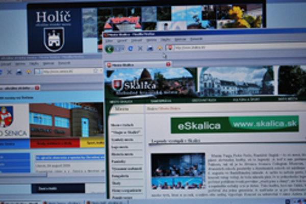 Mestké stránky slúžia na informovanie, odkazujú ich správcovia.