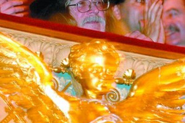 Ivan Martin Jirous na premiére v zlatej kaplnke.