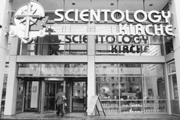Moderná budova scientológov v luxusnej berlínskej štvrti Charlottenburg.