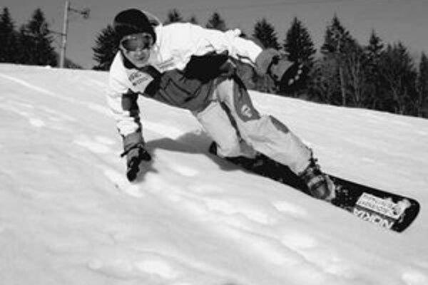 Radoslav Židek si tento rok snehu príliš neužil. Fotka je z minulej zimy.