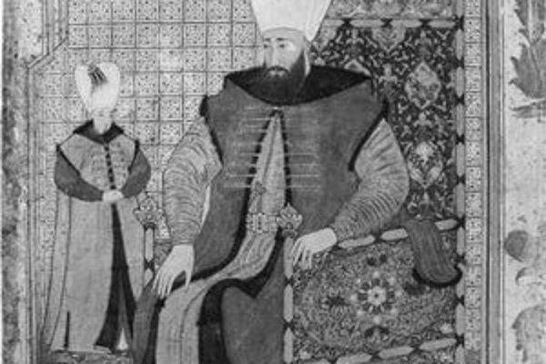 Portrét sultána Ahmeda III. od maliara Levniho, 1703 - 1730, z múzea Topkapi .