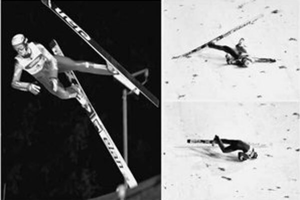 Českému skokanovi Mazochovi prudký vietor prekrútil na pretekoch Svetového pohára v Zakopanom lyže a škaredo sa zrútil na hlavu.