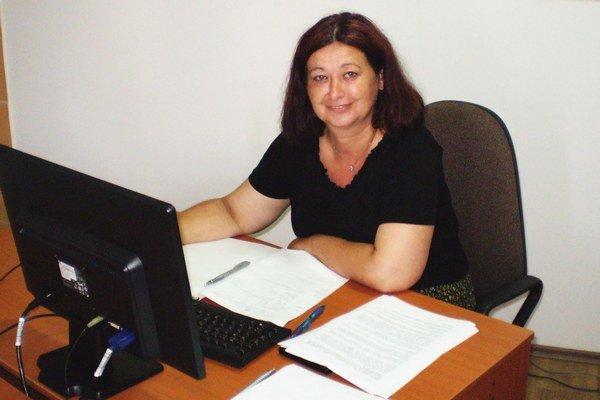 Sociálna pracovníčka Zuzana Halásová.