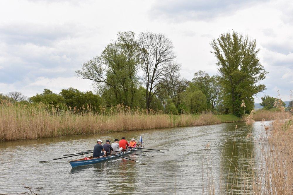Baťov kanál používajú aj veslári na tréning.