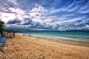 White Beach na ostrove Boracay.