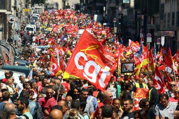 Štrajk v Paríži.