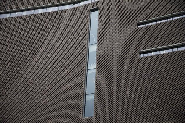 Detail novej fasády.