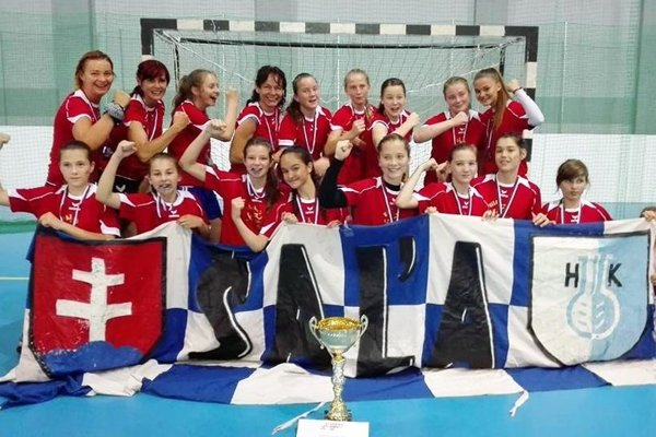 Mladšie žiačky Šale triumfovali na šampionáte vMartine.