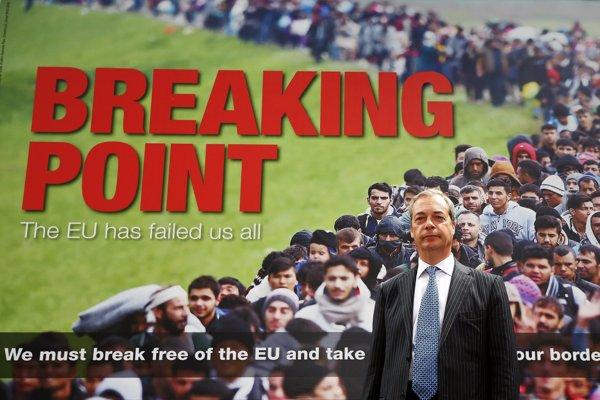 Farageov kontroverzný bod zlomu.
