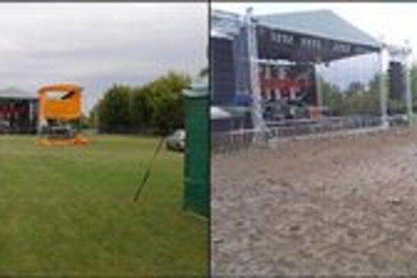 Priestor pod pódiom pred začiatkom festivalu. Na záver to už vyzeralo inak.