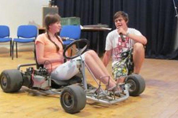 Záber zo študentského predstavenia.