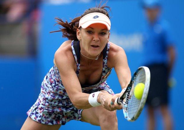 Agniezska Radwaňská má zápas rozohraný lepšie.