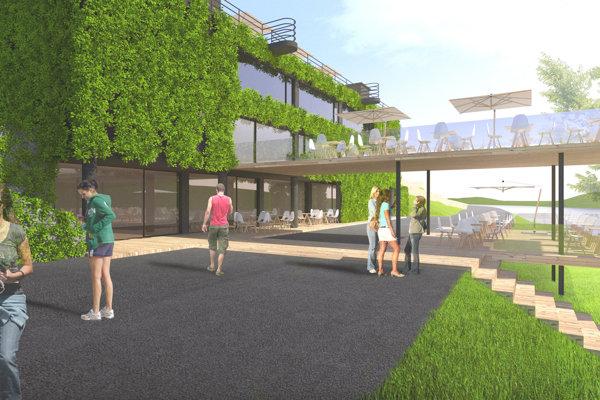 K amfiteátru by mala pribudnúť vysunutá terasa pre reštauráciu.