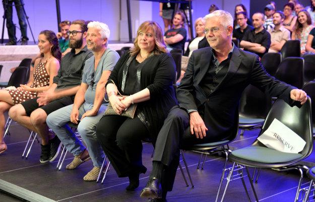 Hviezdou festivalu bol Stephen Daldry (vľavo), trikrát nominovaná na Oscara. V Košiciach viedol aj master class.