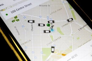 Aplikácia Uber.