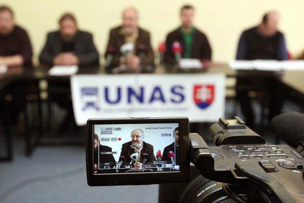 Únia autodopravcov Slovenska (UNAS). Ilustračná snímka.
