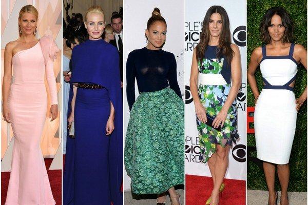 Zľava: Gwyneth Paltrow, Cameron Diaz, Jennifer Lopez, Sandra Bullock, Halle Berry