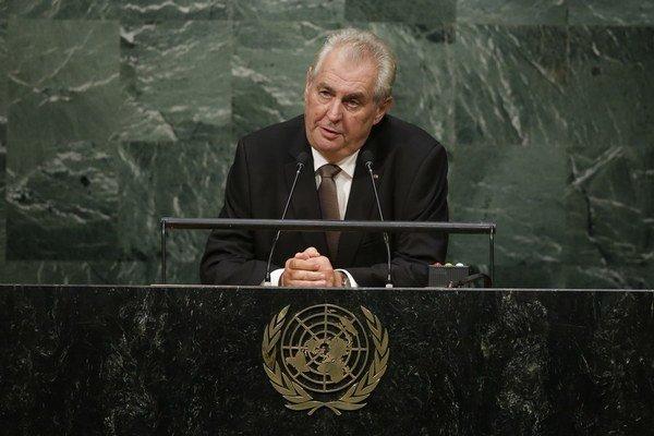 Zeman prišiel do New Yorku, aby vystúpil v OSN.