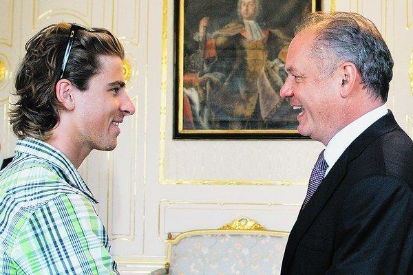 Peter Sagan a Andrej Kiska.