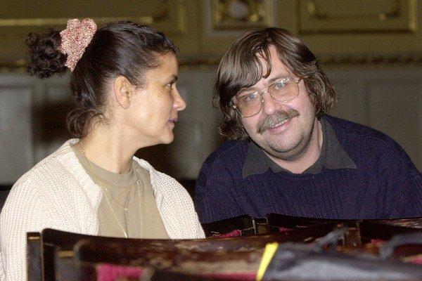 Na snímke Vladimír Godár s Ivou Bittovou.