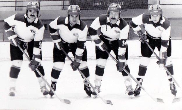 Kvarteto Nitranov zo sezóny 1986/87.