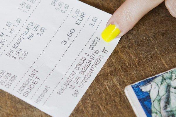 Registračné kódy pokladničných dokladov zverejní Tipos 2. októbra. Ilustračná snímka.