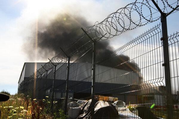 Požiar v Lieskovci.