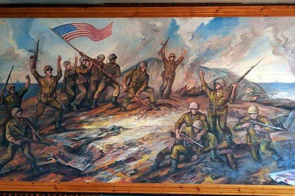 Michal Strenk. Ako veliteľ skupiny vztýčil po dôležitých bojoch americkú zástavu.