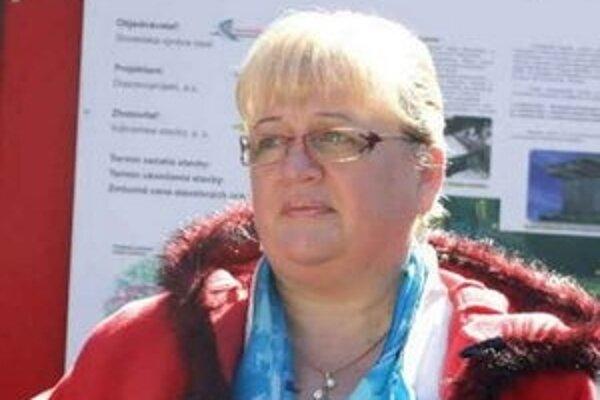 Zita Pleštinská. Dnes už bývalá prednostka.