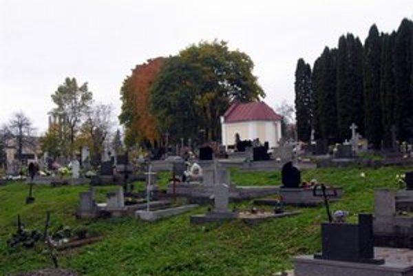 Starý cintorín. Na ňom vyberú hodnotné hroby, ktoré by mesto malo zachovať.