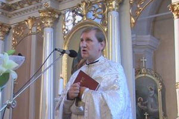 Gréckokatolícky kňaz otec František Krajňák z Kamienky.