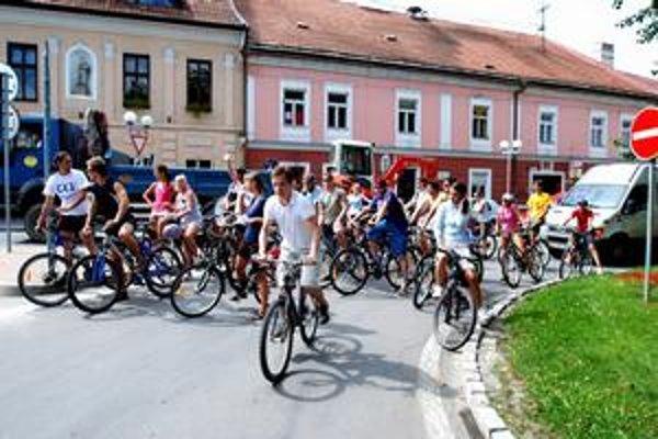 Kolečká. Okolo námestia v Starej Ľubovni.