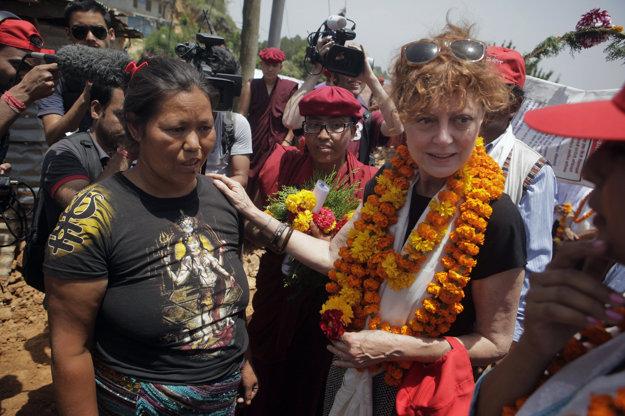 Na návšteve obetí zemetrasenia v Nepále.