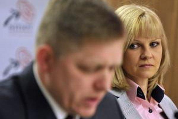 Zuzana Zvolenská a Robert Fico.